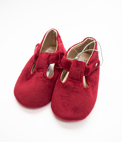 6-12 M Red velvet Shoes