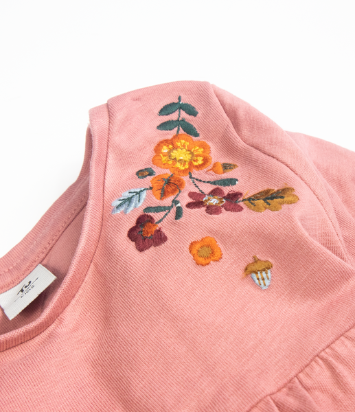 Autumnal embroidered top