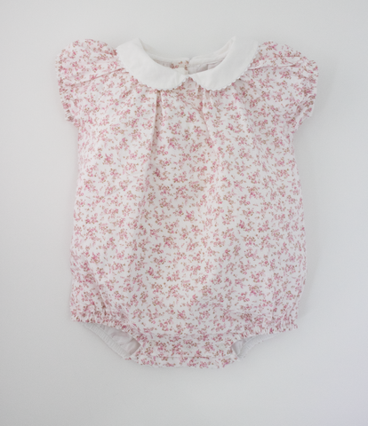 Pink collared floral bubble
