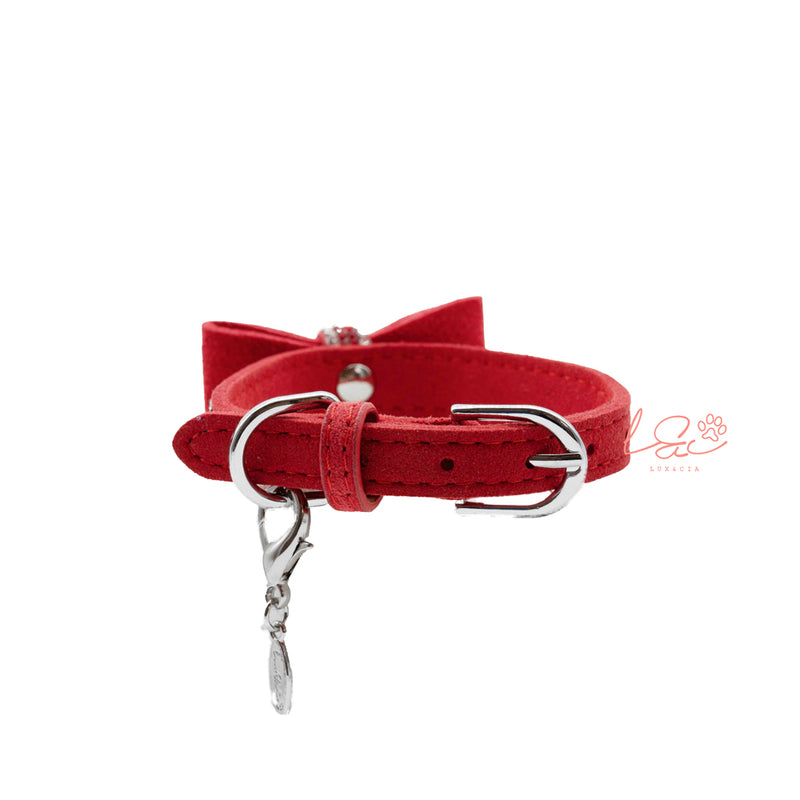 RED SOFT BOW COLLAR