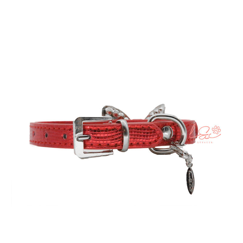 COLLAR LAZO SHINE ROJO