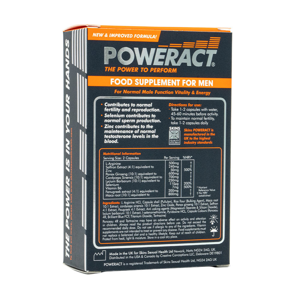 Poweract Pills - 60 Pack