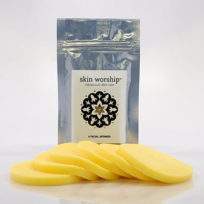 Skin Worship Facial Sponges 6-pack product - Gentle Cleansing Sponges