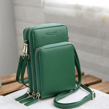 Load image into Gallery viewer, 2020 New Cell Phone Crossbody Bag for Women 1688 Green