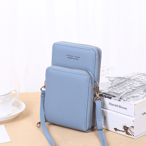 2020 New Cell Phone Crossbody Bag for Women 1688 Light Blue