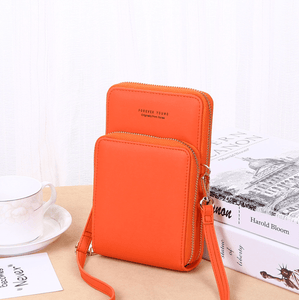 2020 New Cell Phone Crossbody Bag for Women 1688 Orange