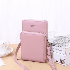 2020 New Cell Phone Crossbody Bag for Women 1688 Pink