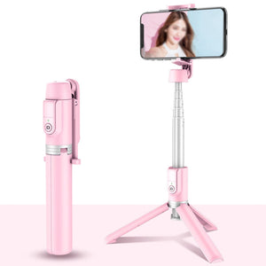 2021 All in One Phone Selfie Stick 1688 Pink