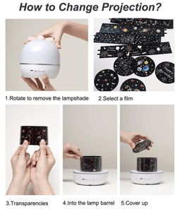 360 Rotation Starry Sky Projector 1688