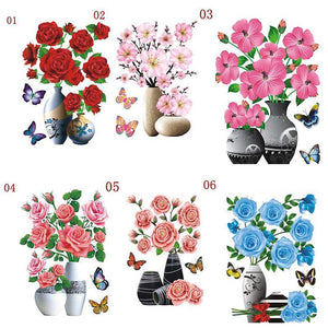 3D Waterproof Rose Wall Sticker 1688 1-5 Mega Bundle (6 PCS)
