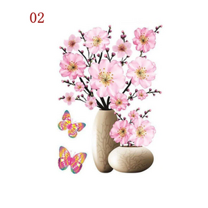 3D Waterproof Rose Wall Sticker 1688 2 Plum Blossom (2 PCS)