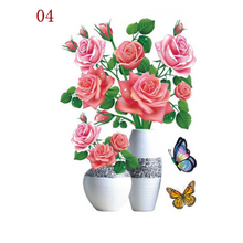 Load image into Gallery viewer, 3D Waterproof Rose Wall Sticker 1688 4 Pink Rose (2 PCS)