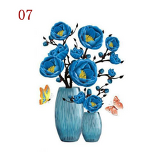 Load image into Gallery viewer, 3D Waterproof Rose Wall Sticker 1688 7 Blue Peony (2 PCS)