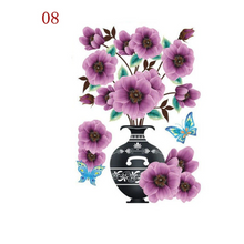 Load image into Gallery viewer, 3D Waterproof Rose Wall Sticker 1688 8 Purple Flower (2 PCS)