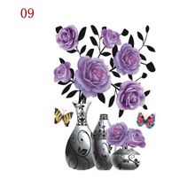 Load image into Gallery viewer, 3D Waterproof Rose Wall Sticker 1688 9 Purple Rose (2 PCS)