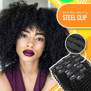 Brazilian Kinky Curly Hair Extensions Clip 1688