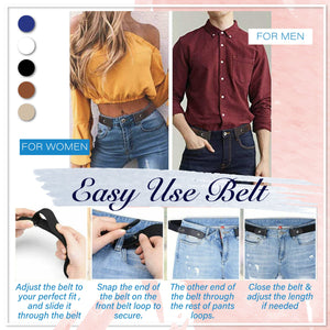 Buckle-Free Invisible Elastic Waist Belts 1688