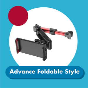 Car Backseat Phone Holder 1688 Advance Foldable Style Red
