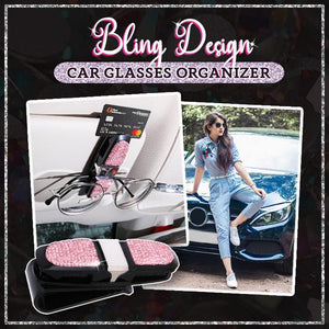 Car Crystal Sun Visor Glasses Holder 1688