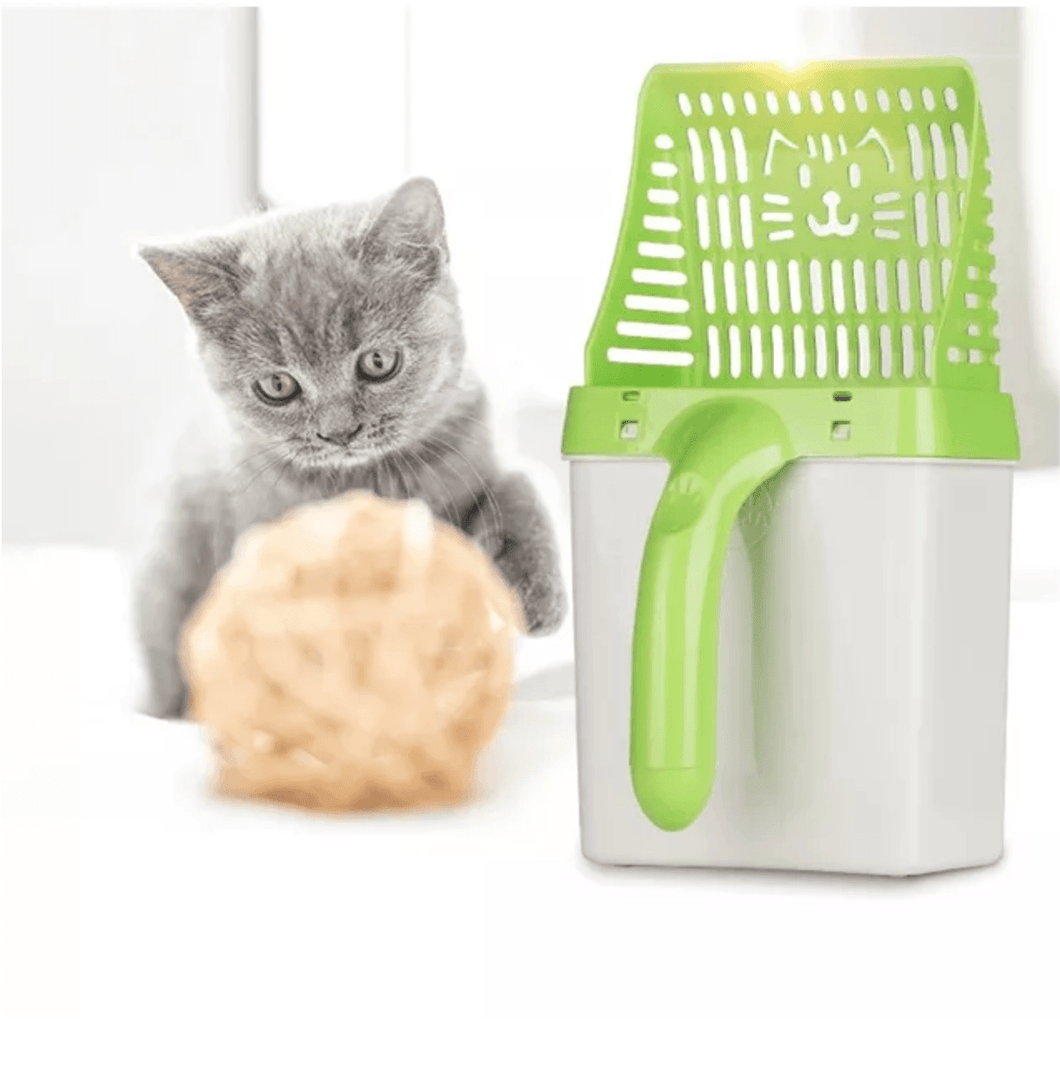 Cat Litter Sifter Scoop System with Extra Waste Bags 1688 1 Green Cat Litter Sifter Scoop With 15 Free Bags