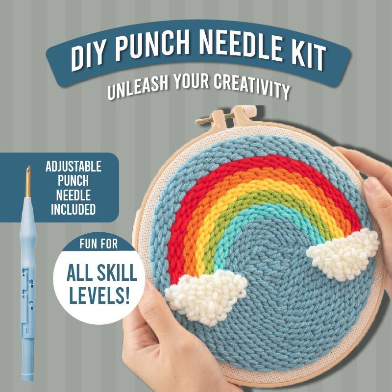 DIY Punch Needle Kit 1688 Rainbow
