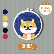 Load image into Gallery viewer, DIY Punch Needle Kit 1688 Shiba