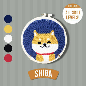 DIY Punch Needle Kit 1688 Shiba