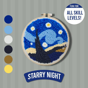 DIY Punch Needle Kit 1688 Starry Night