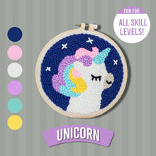 Load image into Gallery viewer, DIY Punch Needle Kit 1688 Unicorn
