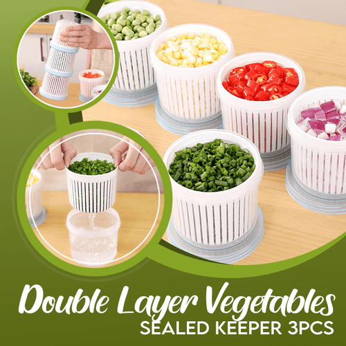 Double Layer Vegetables Sealed Keeper 3PCS 1688