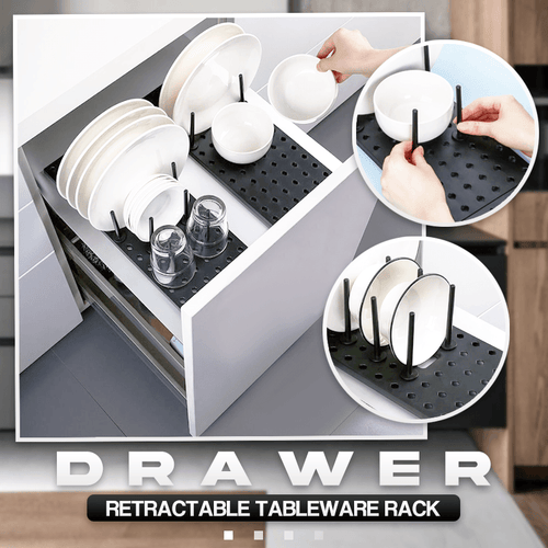 Drawer Retractable Tableware Rack 1688 1PC
