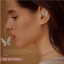 Load image into Gallery viewer, Ear Wrap Crawler Hook Earrings 1688 BIG BUTTERFLY