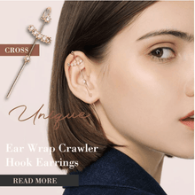Load image into Gallery viewer, Ear Wrap Crawler Hook Earrings 1688 CROSS