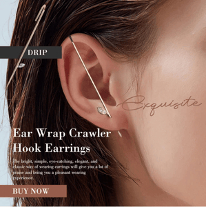 Ear Wrap Crawler Hook Earrings 1688 DRIP