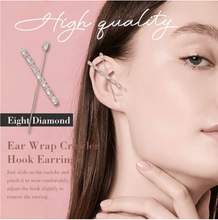 Load image into Gallery viewer, Ear Wrap Crawler Hook Earrings 1688 EIGHT DIAMOND