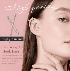 Ear Wrap Crawler Hook Earrings 1688 EIGHT DIAMOND