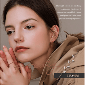 Ear Wrap Crawler Hook Earrings 1688 LEAVES