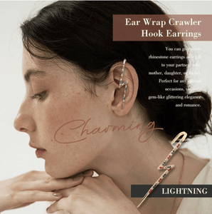 Ear Wrap Crawler Hook Earrings 1688 LIGHTNING