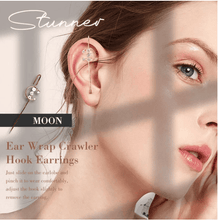 Load image into Gallery viewer, Ear Wrap Crawler Hook Earrings 1688 MOON