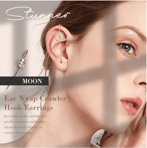 Ear Wrap Crawler Hook Earrings 1688 MOON