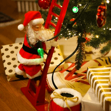 Load image into Gallery viewer, Electric Climbing Santa Limited Edition 1668 Red Ladder