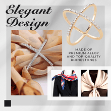 Load image into Gallery viewer, Elegant A Round Creative Scarf Buckle Ring 1688