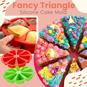 Fancy Triangle Silicone Cake Mold 1688 Red
