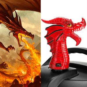 Fire-breathing Dragon Steam Release Accessory 1668 Red