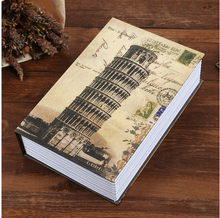 Load image into Gallery viewer, Fireproof Secret Book Safe Box 1688 LEANING TOWER OF PISA KEY