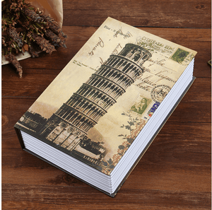 Fireproof Secret Book Safe Box 1688 LEANING TOWER OF PISA KEY