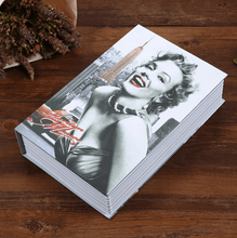 Load image into Gallery viewer, Fireproof Secret Book Safe Box 1688 MARILYN MONROE KEY