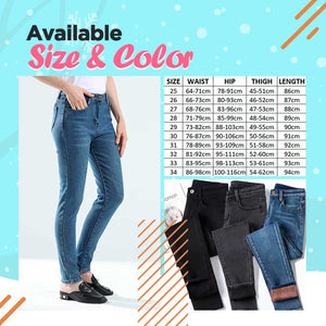 Fleece Lined Stretchy Denim 1688 Black 26