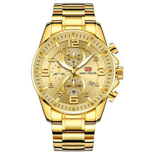 Load image into Gallery viewer, Gold Luminous Waterproof Steel Band Men Watch 1688 Luxury Gold Surface