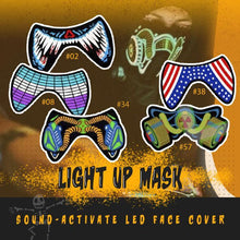 Load image into Gallery viewer, Halloween Sound-Activate LED Face Cover 1688 #08